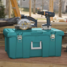 Teal Sachet Rolling Footlocker Metal Hinges & Latches Portable Camping