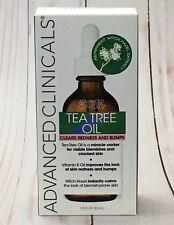 ADVANCED CLINICALS TEA TREE OIL Clears Redness & Bumps 1.8 Fl.Oz / 53ml New NIB