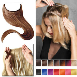 No Clip in Hair Extensions Hairpiece as Human Hidden Secret Headband Wire