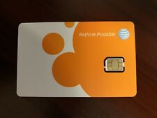 At&T Nano Sim Card 4G Lte 4488A / 4098A - Gsm GoPhone Prepaid or Contract - New