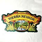 Sierra Nevada Cutout Embossed Metal Tin Beer Sign 20 x 11 Bar Mancave Tiki