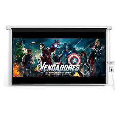 """New 120"""" 16:9 Motorized Electric Auto Projector Projection Screen Remote Control"""