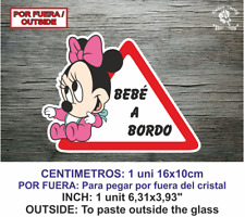 Sticker Vinilo Decal Vinyl Bebe a bordo LBB144 MINNIE Baby por fuera on board