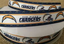 """2 Yards 7/8"""" CHARGERS Grosgrain Ribbon - # 4"""