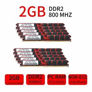20GB 16GB 8GB 4GB 2GB PC2-6400U DDR2 800mhz Desktop Geringe Dichte DIMM RAM DE