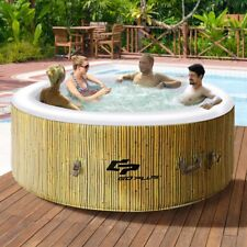 4 Persons Portable Heated Bubble Massage Spa Holiday Outdoor Yard Garden  Enjoy