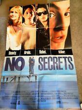 NO SECRETS (VIDEO DEALER 40 X 27 POSTER, 1990S) AMY LOCANE, HEATHER FAIRFIELD