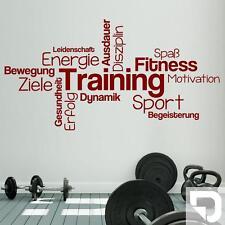 Wandtattoo Training Begriffe - Wortwolke zur Motivation von DESIGNSCAPE®
