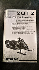 Arctic Cat 2012 Crossover/Mountain/Perfor mance Models Operator's Manual