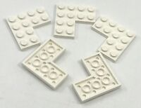 Lego 5 New White Plates 4 x 4 Dot Corner Pieces Parts