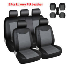 Luxury PU Leather Universal Car Seat Cover Set Automotive Seat Protect Covers