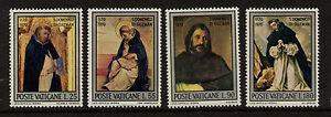 Vatican 509-12 MNH St Dominic de Guzman, Art