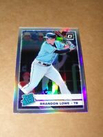 2019 Donruss Optic RATED ROOKIE HOLO PRIZM Brandon Lowe #53 RC Tampa Bay RAYS
