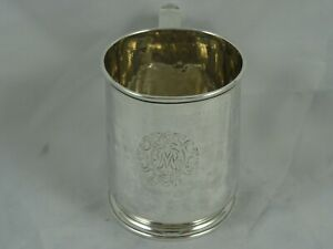 EXTREMELY rare sterling silver GEORGE I , TANKARD, 1725, 286gm