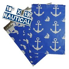 25 10x13 Nautical Designer Mailers Poly Shipping Envelopes Boutique Bag