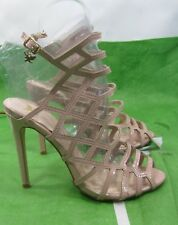 "new skintone 4.5""Stiletto High Heel Peep Toe Womens Stunning sexy shoes Size 7.5"