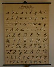 Wandbild Lateinische Ausgangsschrift 88x120 1953~63 vintage Latin writing chart
