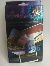 Mediarange 50 Feuilles Papier Photos 100x150mm finition brillante 220g/m²
