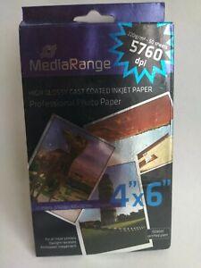 Mediarange 50 Feuilles Papier Photos 100x150mm finition brillante 220g/m²