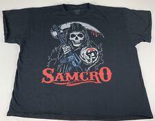Sons Of Anarchy Samcro Shirt Black Men's 3XL Used #I