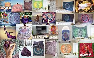 25 Pcs Wholesale Lot Indian Mandala Tapestry Wall Hanging Decor Twin Bedspread