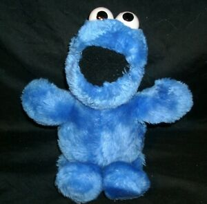 "10"" VINTAGE BLUE COOKIE MONSTER APPLAUSE 14314 STUFFED ANIMAL PLUSH TOY SESAME"