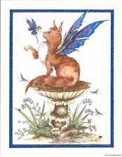 AMY BROWN être Bonne Fée et Fox Fantasy Carte de vœux Tree Free artiste Imprimé