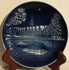 B&G Bing Grondahl Juleafter Copenhagen Stock Exchange Blue 1991 CHRISTMAS PLATE