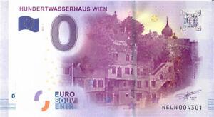 0 Euro Schein Österreich · Hundertwasserhaus Wien · NELN 2017-1 o € Banknote