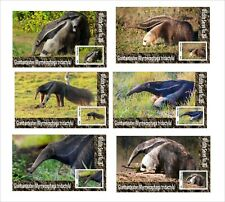 2020 GIANT ANTEATER 6 SOUVENIR SHEETS UNPERFORATED  WILD ANIMALS