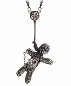 Alchemy England - Voodoo Doll Necklace, Gothic Magic Pagan Witchcraft, Evil Gift