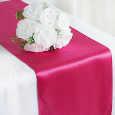 "Fuchsia Fushia SATIN 12x108"" Table RUNNER Wedding Party Catering Decorations"