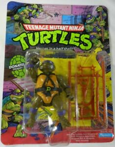 1988 Playmates Donatello Teenage Mutant Ninja Turtles TMNT 10 Back MOC Unpunched