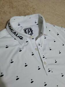 FootJoy PGA Tour mens polo shirt SMALL NEW Rare White Pin Seeker LocaliQ
