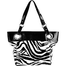 NWT George Womens Dream Eyelet Oversized Tavel Tote Bag In Zebra & Leopard Print