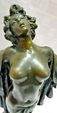 "Victorian Bronze Nude Sculpture SPRING AWAKENING Preiss BEAUTIFUL WOMAN 15"" Tall"