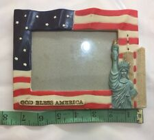"New York Twin Towers Statue of Liberty Picture Vintage Frame3.5""x5"""