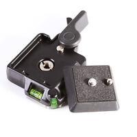 Clamp & QR Quick Release Plate Holder Adapter F Tripod Ballhead Arca Benro Level