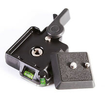 Clamp w Quick Release Adapter Plate For DSLR Monpod Tripod Ball Head Arca Benro