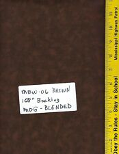 """MBW-06 BROWN, MDG BLENDED, 108"""" Wide Quilt Backing, BY THE YARD 100% Cotton"""