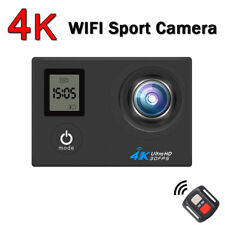 4K WiFi Sports Action Camera Dual Screen 16MP Camcorder Remote Accessory Bundle