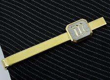 """Letter M Initial Tie Clip Bar 2"""" 5cm"""
