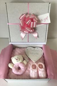 Baby Girl Gift Hamper Basket Maternity Shower Gift Baby New Baby Girl Gift Idea