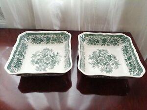 Villeroy& Boch 2 Schale, Schüssel Fasan grün Vitroporzellan Geschirr