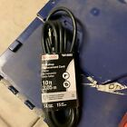 Appliance Electrical Tools Power Replacement Cord 14 Gauge 10' Foot 3-Wire Black photo