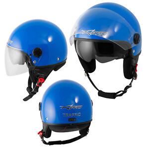 Open Face Jet Helmet Motorbike Scooter Duuble Visor Inner Sun A-PRO