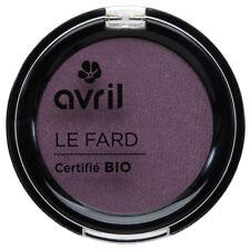 Fard à paupières Prune irisé Certifié Bio Vegan Naturel Cosmétique AVRIL