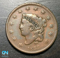 1833 Coronet Head Large Cent   --  MAKE US AN OFFER!  #B6312