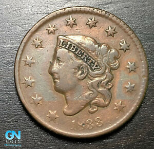 1833 Coronet Head Large Cent   --  MAKE US AN OFFER!  #B6312