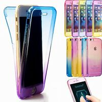 360° FULL ETUI COQUE HOUSSE FULL PROTECTION SILICONE TPU Pour iPhone Samsung